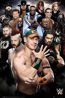 "Wwe Superstars Poster ""licensed"" Brand New ""john Cena, Undertaker, Seth, Bray"""