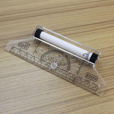 Clear Plastics Metric Parallel Multifunction Drawing Rolling Measurer Ruler