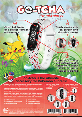Official Datel Go-Tcha - Pokemon Go Wristband - Android Ios Phones - New