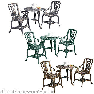 3pc Garden Bistro Set 2 Chairs & Table Furniture PVC Outdoor Patio Dining NEW