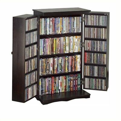 "Bowery Hill 40"" CD DVD Media Storage Cabinet in Cherry"