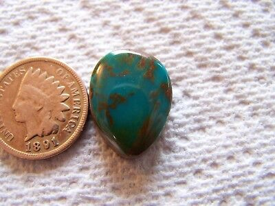 Crow Springs Turquoise Cabochon 14 carats American Cab Nevada USA Blue Green