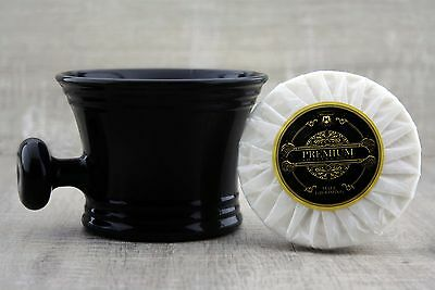 Men's Shaving Soap With Black Shaving Mug. Perfect for all Type Of Shave.