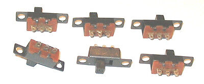 Slide Switches SPDT Panel Mount  Small Miniature new lot 6