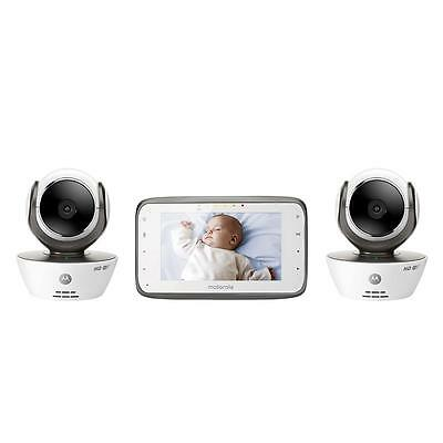 Motorola Digital Video Baby Monitor with Two Wi-Fi Internet Viewing Cameras