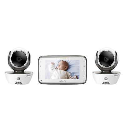 Motorola MBP854 Digital Video Baby Monitor with 2 Wi-Fi Internet Viewing Cameras