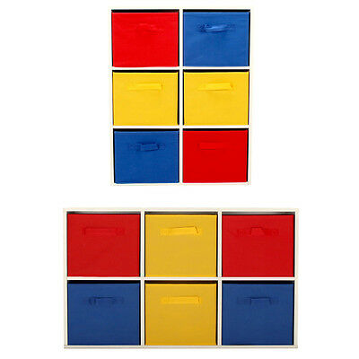 Chest of 6 Drawers for Children's Bedroom Playroom Multi Coloured Canvas Storage