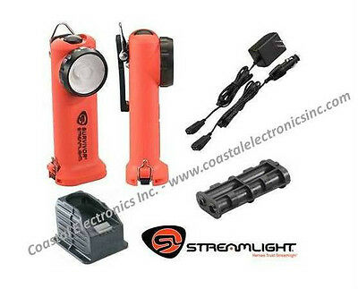Streamlight Survivor Rechargeable 90503 LED Flashlight w/ AC/DC Chargers & Base
