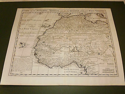 100% Original Large West Africa Map By G De Lisle C1798 Vgc Free Uk Postage