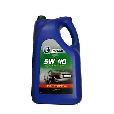 Engine Oil 5W40 Fully Synthetic 5 Litre GFY050 G FORCE 5W-40 5W/40 5L