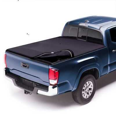 5.5ft Bed Black Lock & Roll Up Soft Tonneau Truck Cover for a 04-17 Ford F150