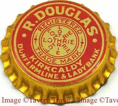 1930s KIRKCALDY LOTHRIE SCOTLAND R Douglas Birch Beer Cork Crown