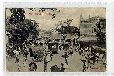 (Sc877-175)  Main Street, COLOMBO 1909,  Used  G-VG