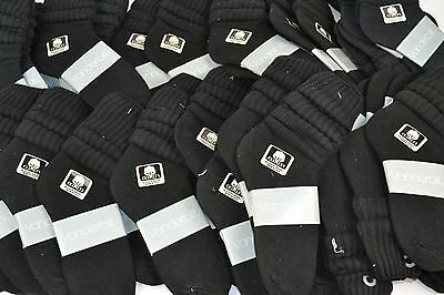 Vintage New Lot of 48 Pairs Cotton SLOUCH Baggy Socks Black - 1980's