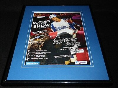 Snoop Dogg 2004 Finish Line Framed 11x14 ORIGINAL Vintage Advertisement