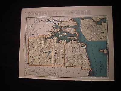 Vintage 1940 Color Map of South Carolina or Rhode Island Colliers World Atlas