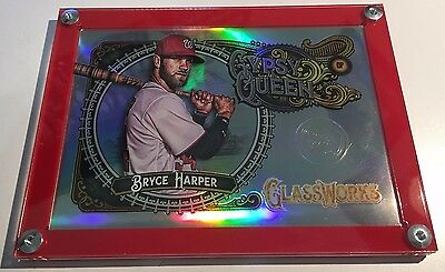 2017 Topps Gypsy Queen Glassworks Box Topper Acrylic Display Holder Case.