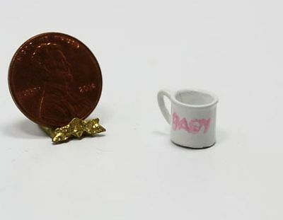 Dollhouse Miniature 1:12 Hand Painted Pink Baby Cup by Multi Minis