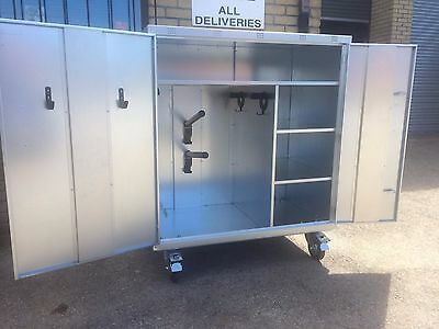 Ani-Mate 2 Saddle Mobile Show/Competion Tack Locker Galvanised Fully Assembled