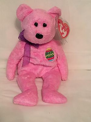 UNUSED CODE TY EGGS 2008 the BEAR 2.0 BEANIE BABY MINT with MINT TAG