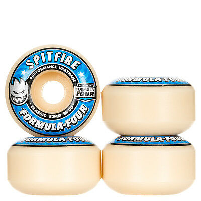 Spitfire Formula Four Classic Wheels 99a White/Blue 52mm