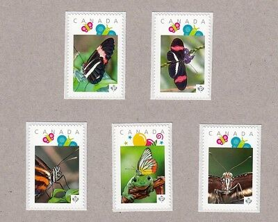BUTTERFLY, CLOSE-UP Set of 5 Picture Postage MNH stamps Canada 2016 [p16/05bt5]