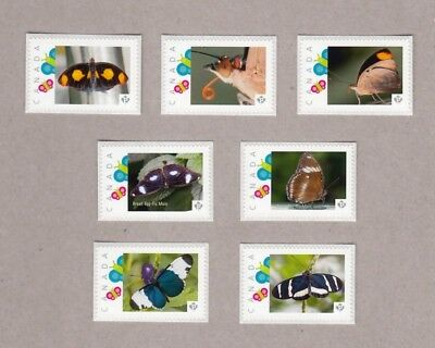 BUTTERFLY Set of 7 picture postage stamps MNH Canada 2016 [p16/04bf7]