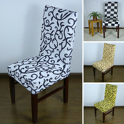 Spandex Stretch Chair Cover Wedding Banquet Party Decor Dining Bar Seat Cover