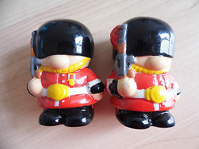 Guardsmen Ceramic Salt & Pepper Set New