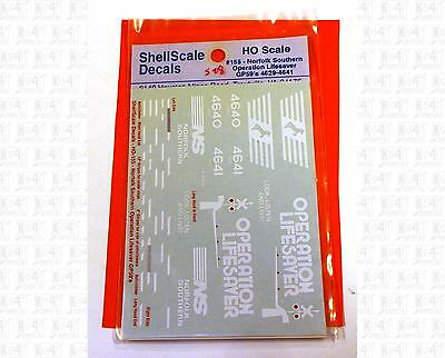 ShellScale HO Decals Norfolk Southern Operation Lifesave GP59 Diesel White 155