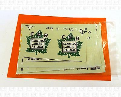 Walthers O Decals Canadian National Ice Reefer Black and Green 30-48