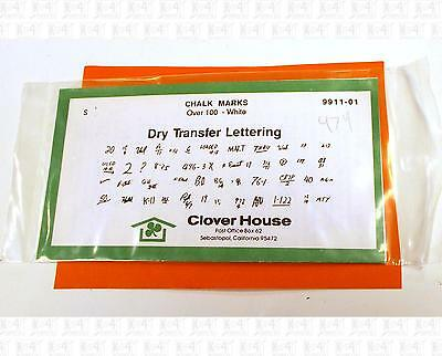 Clover House S Dry Transfer Decals Freight Car Chalk Marks White 9911-01