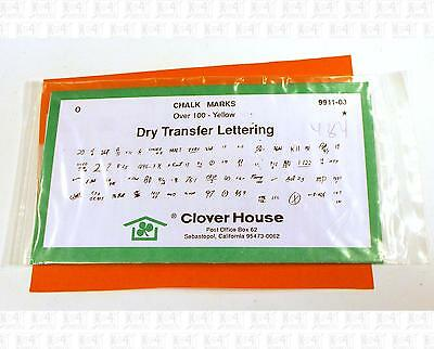 Clover House O Dry Transfer Decals Freight Car Chalk Marks Yellow 9911-03