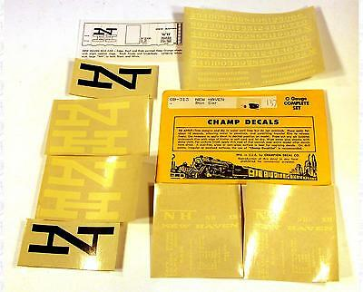 Champ O Decals New York, New Haven, and Hartford Boxcar White and Black OB-313