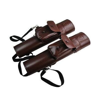 Back Arrow Quiver Traditional Style Adjustable Length Y-straps Leather Vintage