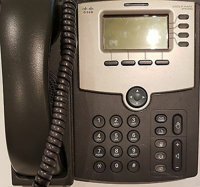 CISCO SPA504G 4-LINE IP VoIP PHONE LCD DISPLAY + STAND