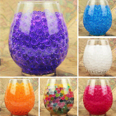 1000PCS Water Plant Flower Jelly Crystal Beads Gel Ball Soil Mud Pearls Orbeez
