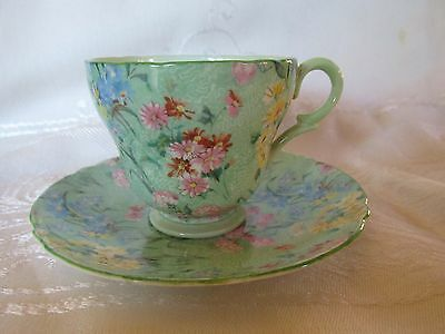 Shelley Coffee Cup and Saucer Melody Pattern