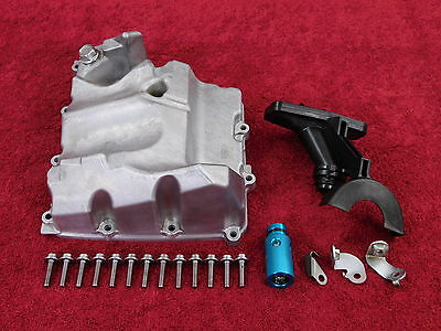 Complete OEM OIL PAN w/HARDWARE *NICE! 06-16 YZF-R6 R6R YZFR6 engine cover/sump