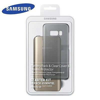 Genuine Original Samsung Galaxy S8 S8 Plus Starter Kit Pack Power Bank Cover