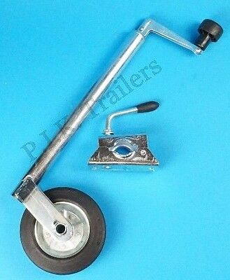 34mm Standard Duty Jockey Wheel & Clamp with Steel Wheel - Trailers    #5222