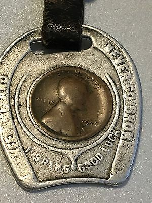"1929 Lucky Cent - ""Keep Me and Never Go Broke"", leather strap"
