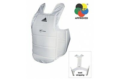Adidas WKF Approved Karate Body Armour Protector Chest Guard Adult Kids S-XL Pad