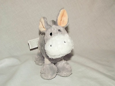 Morrisons Grey Donkey soft cuddly toy 7 inches tall