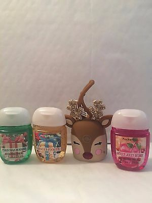 Bath & Body Works MOST WONDERFUL TIME OF THE YEAR 3 Pocketbac & Reindeer Holder