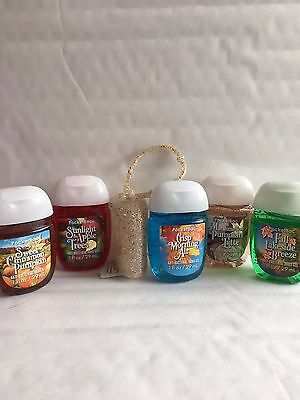 Bath & Body Works BRIGHT LEAVES & BLUE SKIES 5-Pack PocketBac Sanitizers Bundle