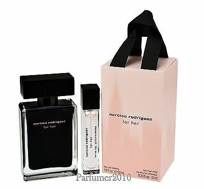 Narciso Rodriguez for her 50ml Eau de Toilette &  10ml Haarparfum    Neu