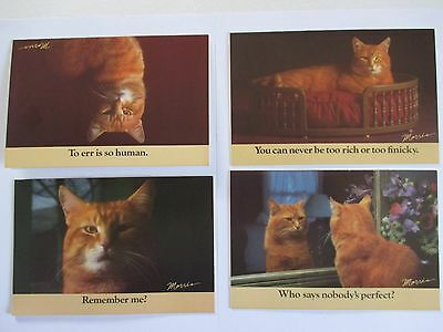 MORRIS THE CAT Note Cards Lot of 12 9-Lives Star Kist Printed in USA