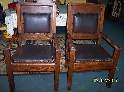 PR. Antique Stickley? Brothers Arts and Crafts Mission Oak Chair PICK UP signed?