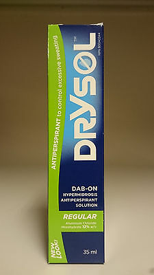 Drysol Regular Hyperhydrosis Antiperspirant Solution Control Sweating 35ml